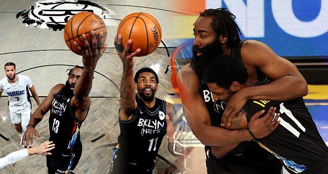 [NBA]魔术92-129篮网 欧文哈登合砍47分16助攻