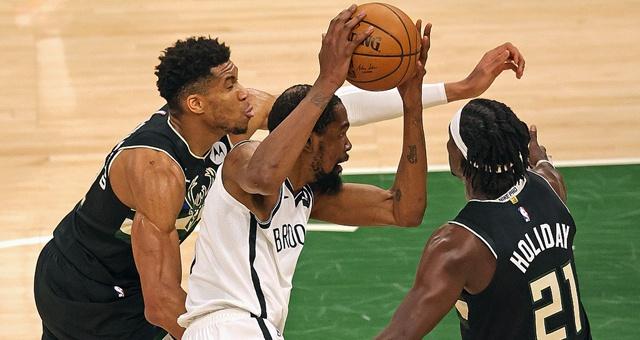 [NBA季后赛]篮网89-104雄鹿 字母哥30+17总分扳成3-3