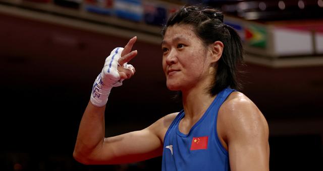 女子拳击沉量级谷红4-1进决赛
