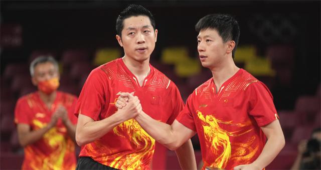 乒乓球男团中国3-0横扫韩国晋级决赛