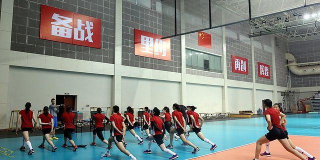 中国女排北仑备战中日精英赛
