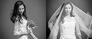何姿黑白婚纱写真