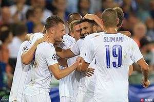 欧冠-马赫雷斯梅开二度 莱斯特客场3-0完胜