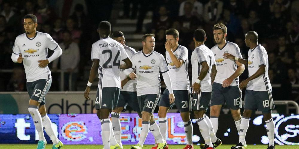 联赛杯-北安普顿1-3曼联 红魔庆祝胜利