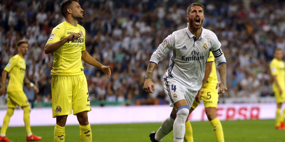 西甲-皇家马德里1-1比利亚雷亚尔 拉莫斯进球扳平