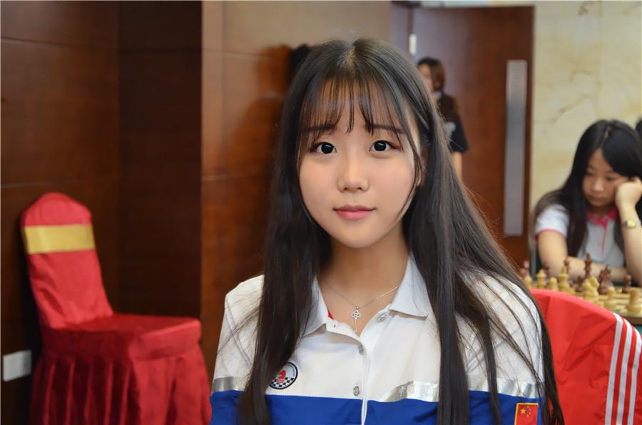 高清-国象联赛江苏队美少女袁烨