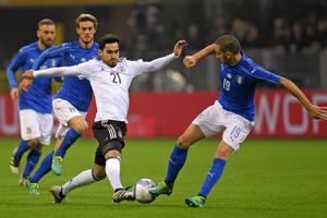热身-贝洛蒂中柱险绝杀 意大利0-0平德国