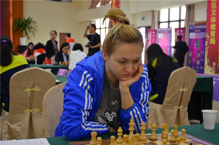 高清-国象联赛棋后乌什尼娜出战