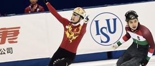 短道世界杯武大靖男子500米摘金