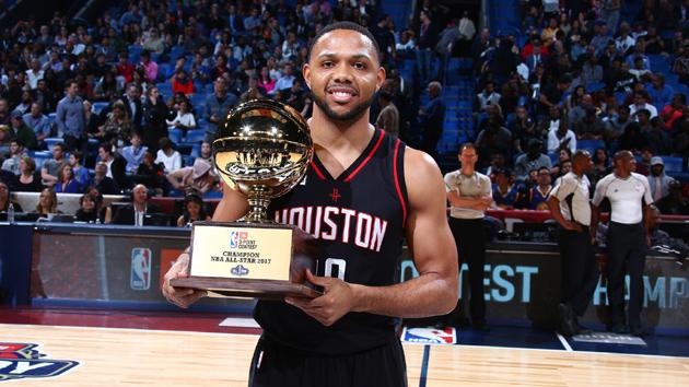 NBA-戈登获得全明星三分大赛冠军