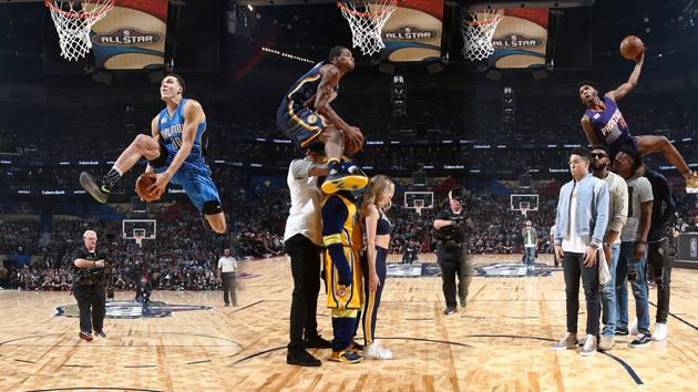 NBA-全明星扣篮大赛小狗罗宾逊夺冠