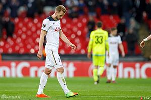 欧联杯-凯恩自摆乌龙 热刺主场2-2遭淘汰