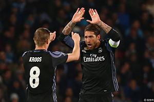 欧冠-C罗中柱拉莫斯造两球 皇马3-1晋级