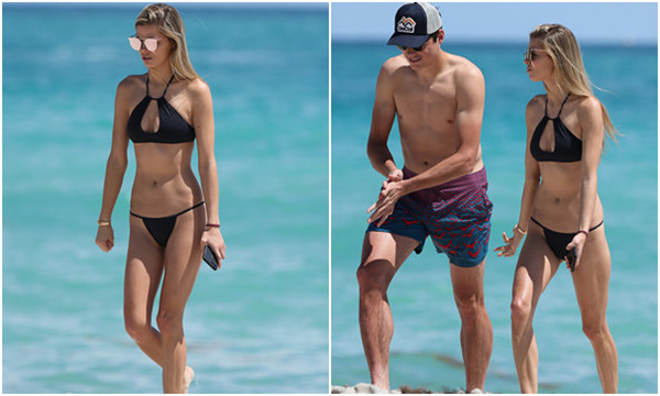 高清-拉奥尼奇携性感女友海边度假