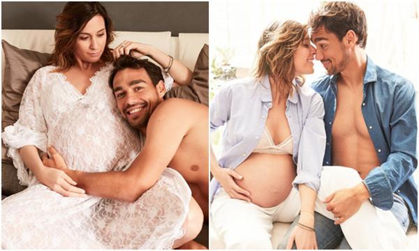高清-佩内塔和丈夫拍摄怀孕写真 十分甜蜜