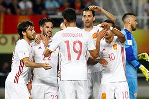世预赛-席尔瓦科斯塔破门 西班牙2-1领跑