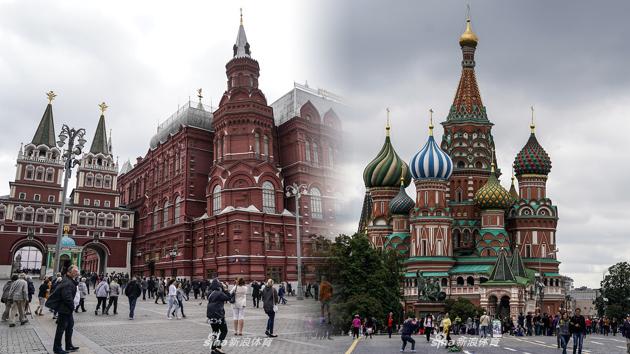 世界杯举办地莫斯科风光之红场