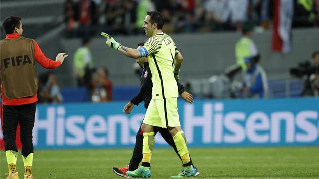 联合会杯-曼城门神3神扑 智利点杀葡萄牙