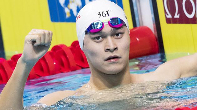 游泳世锦赛-200自孙杨第三进决赛