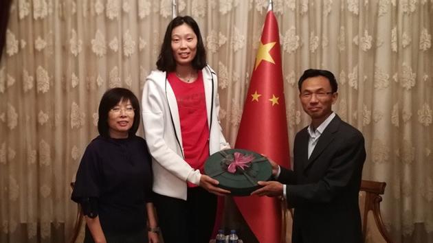 中国驻土耳其大使馆为朱婷接风庆祝