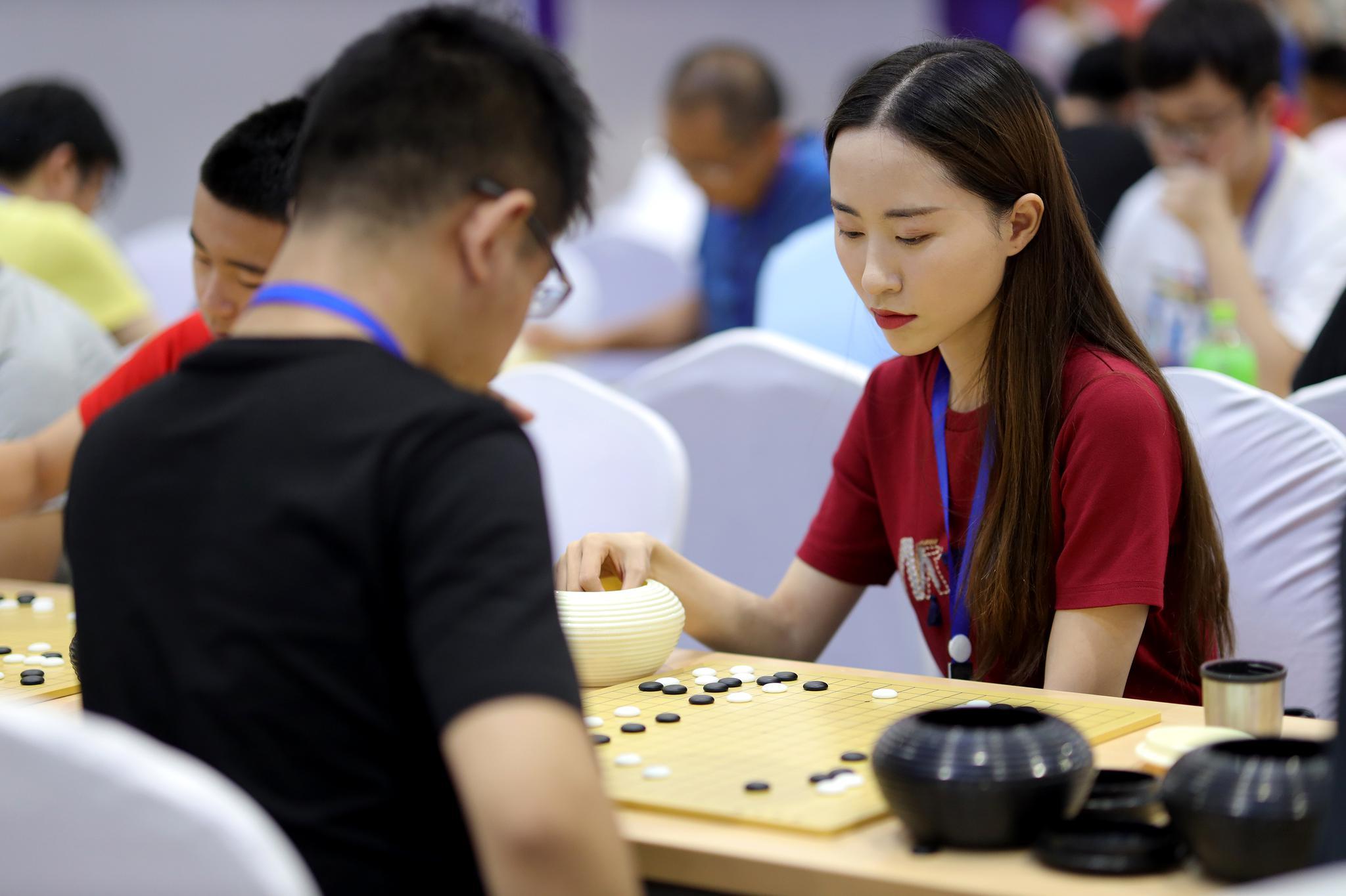 高清-围棋大会比赛现场 大奖赛组高手如云