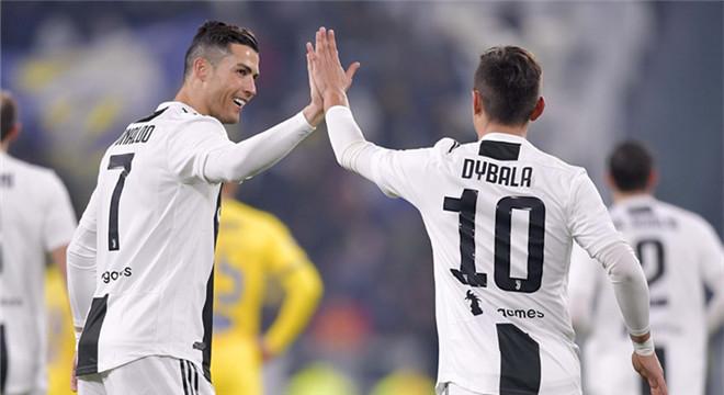 意甲-C罗连续3轮进球+助攻 迪巴拉世界波 尤文3-0