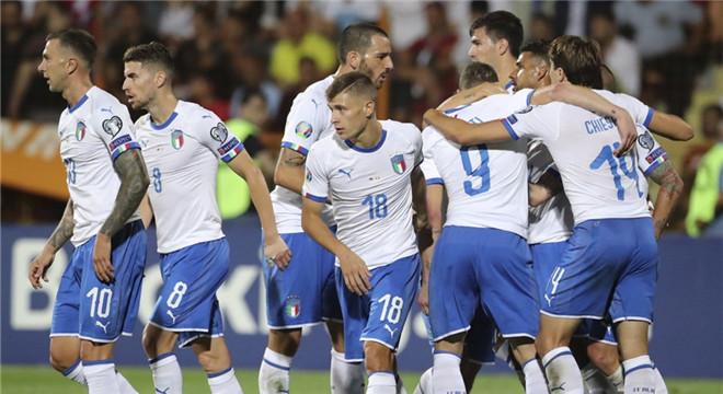 欧预赛-贝洛蒂2球博努奇助攻 意大利客场3-1逆转