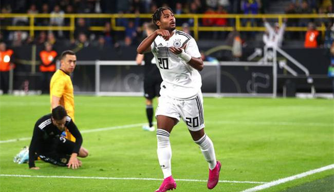 热身赛-格纳布里传射 德国2球领先主场2-2阿根廷