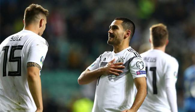 欧预赛-10人逆境曼城大将2射1传 德国客场3-0胜
