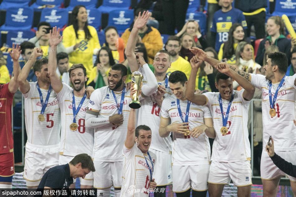 世界男排联赛第一档法国夺冠(4张)