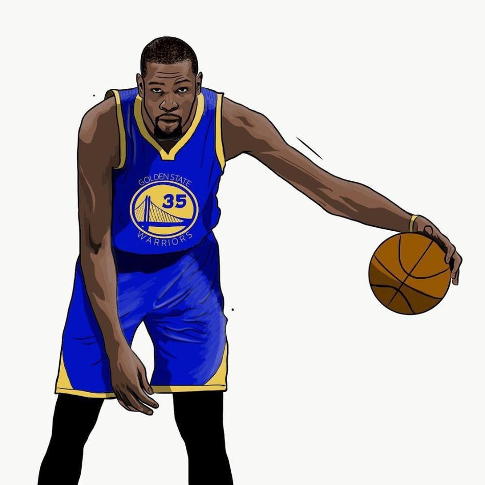 NBA球星插画重现经典姿势图片