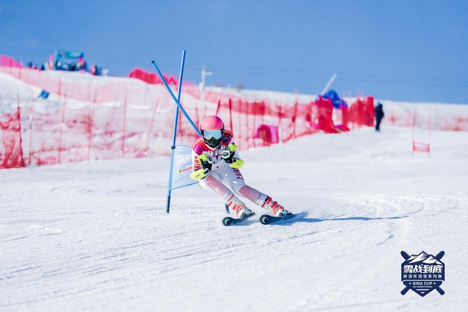 新浪杯滑雪系列赛云顶站双板精彩瞬间