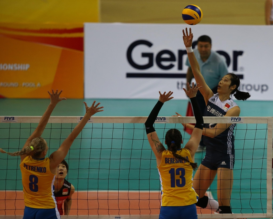 世预赛中国女排3-0哈萨克斯坦(9张)