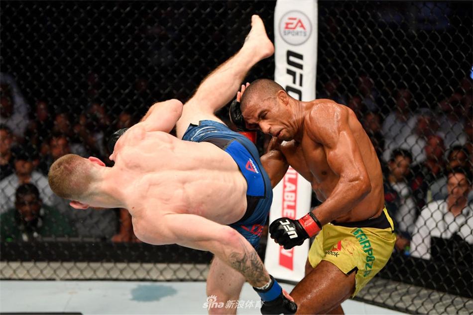 UFC242精彩集锦 卡比布裸绞普瓦里尔成功卫冕