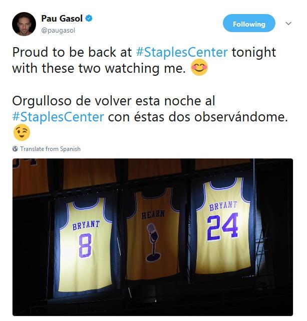[NBA]科比加索尔再隔空秀恩爱 (9张)