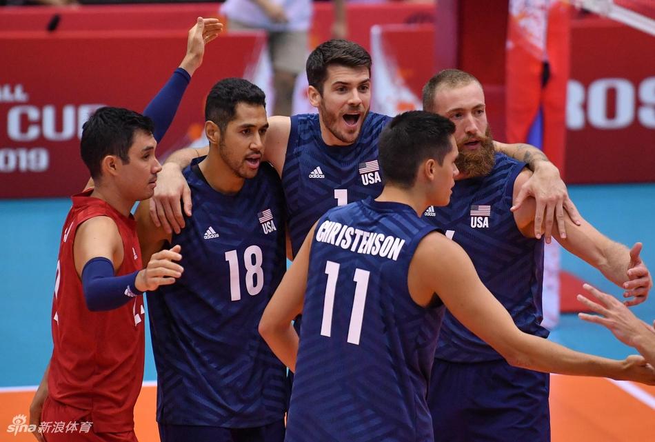 男排世界杯巴西3-0美国取七连胜日本3-1胜俄罗斯