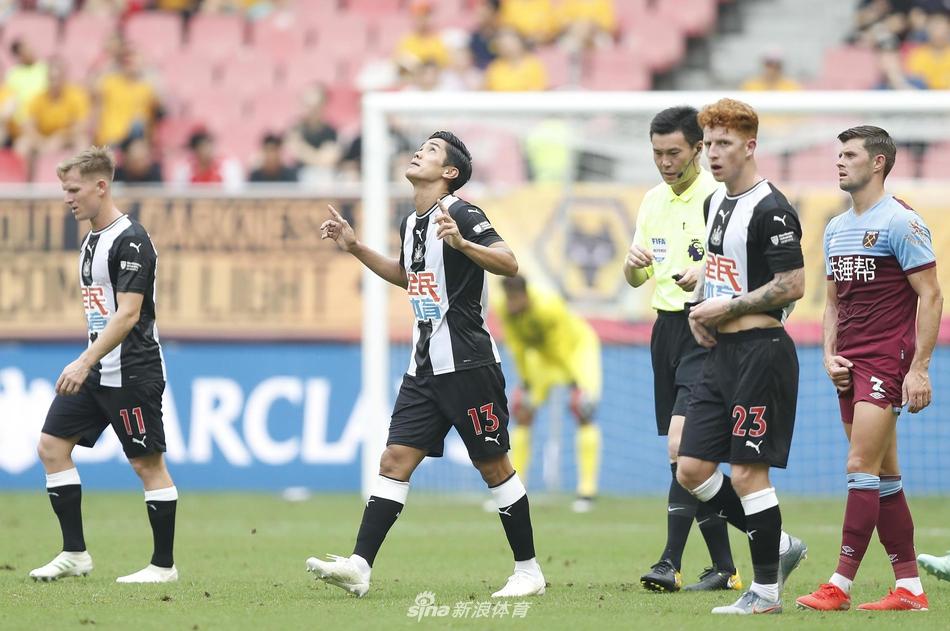 新浪直击英超亚洲杯纽卡1-0西汉姆
