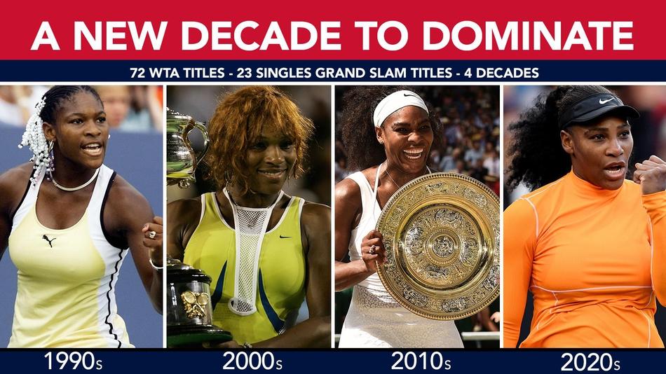 小威的冠军数横跨四个时代