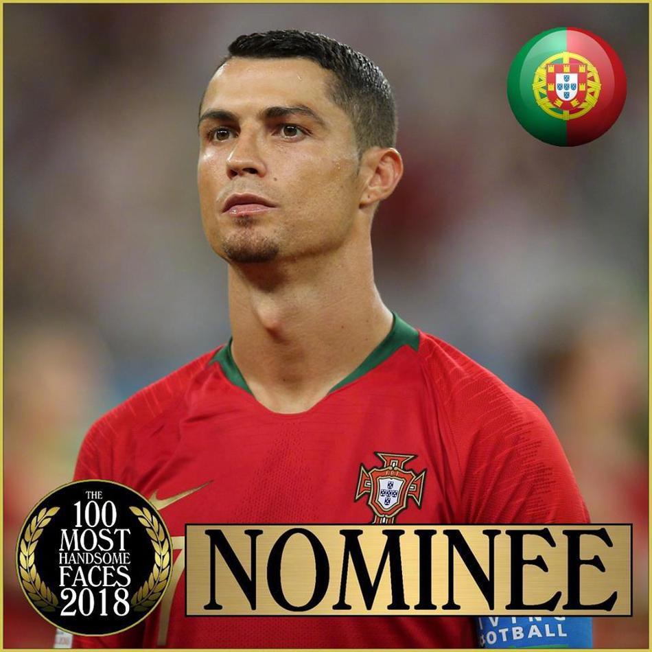 2018世界百大帅脸 C罗梅西提名