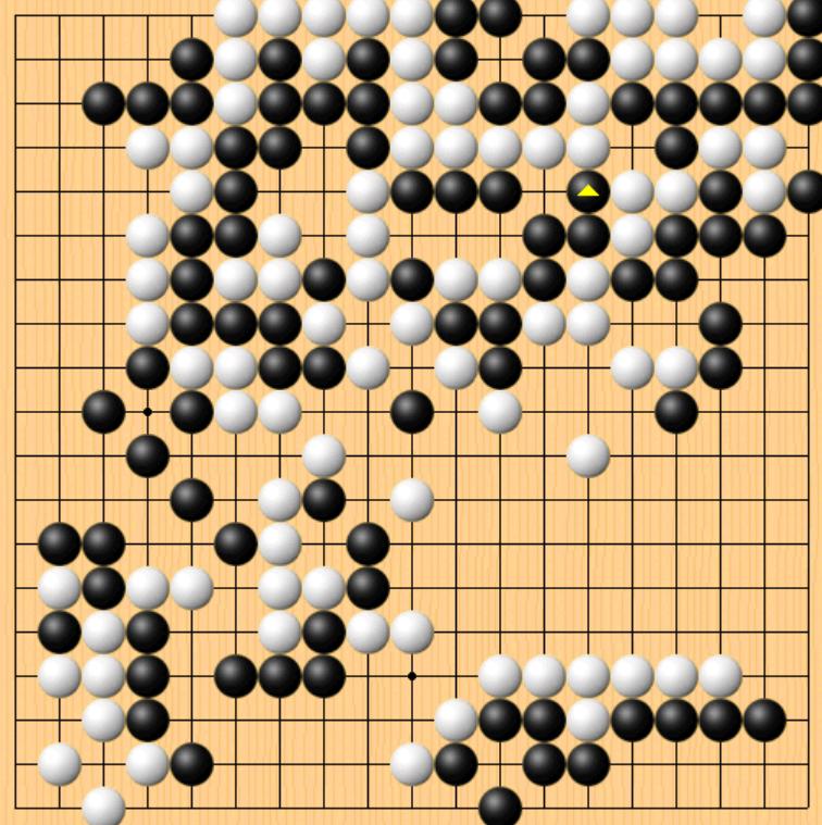 动图棋谱-天元赛本赛第二轮 江维杰负时越