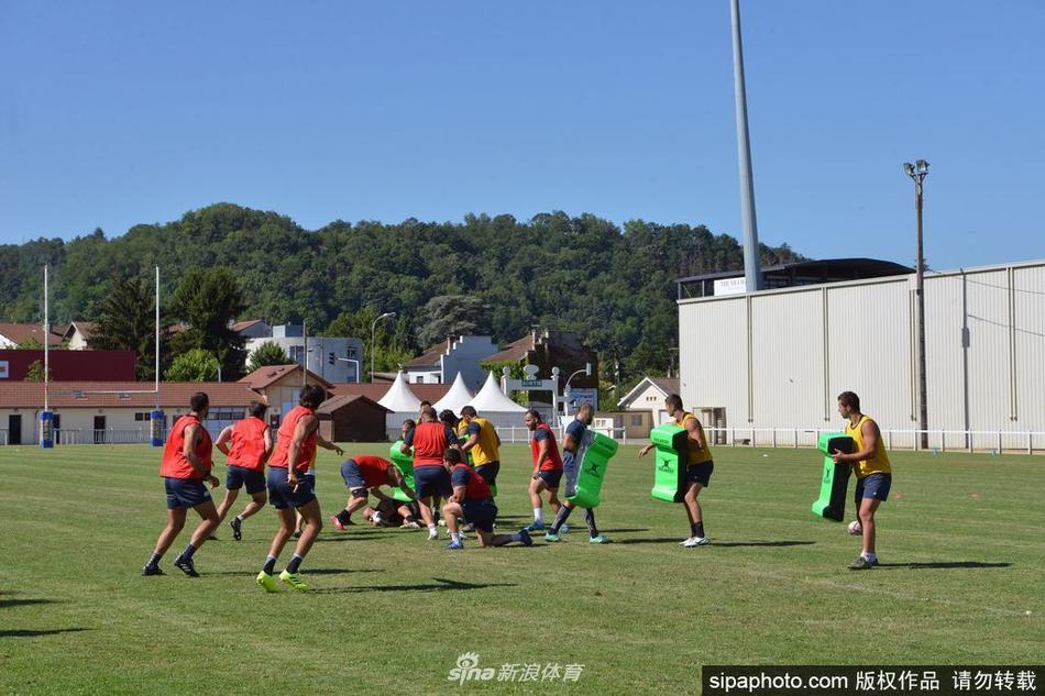 法国橄榄球队备战全国锦标赛