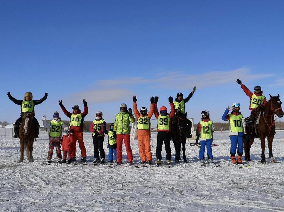马术滑雪首次引入国内落地沽源县