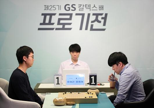 幻灯-韩国GS加德士杯16强战 卞相壹对决尹峻相