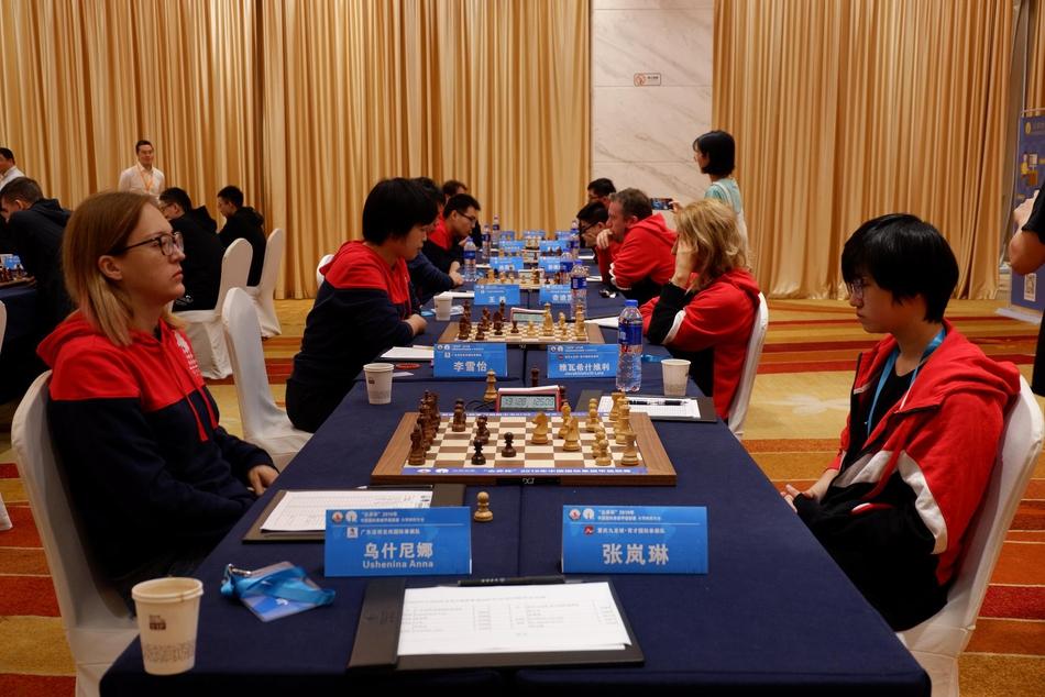 国象联赛第15轮上海战平北京 张岚琳爆冷胜前棋后
