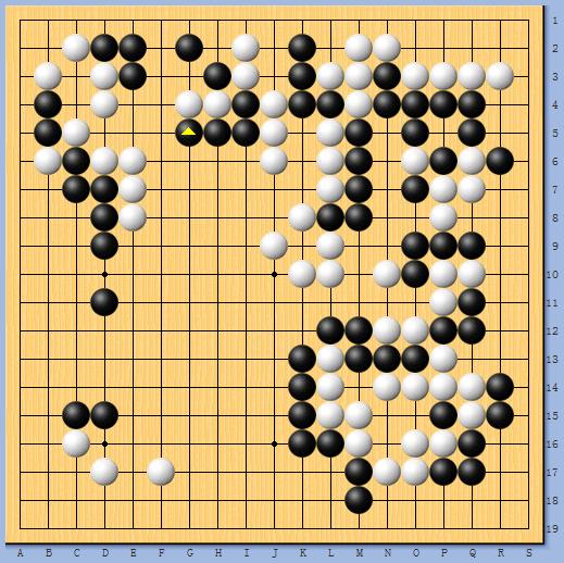 动图棋谱-围甲热身赛主将对决 谢科击败杨鼎新