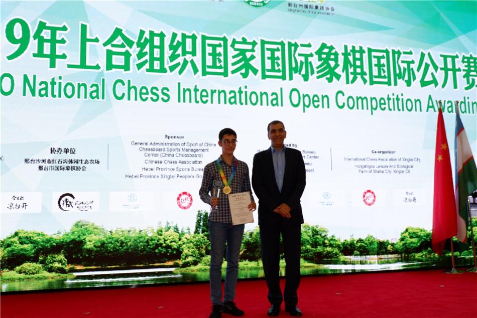 高清-上合组织国家公开赛闭幕 伊朗棋手夺冠朱锦尔亚军