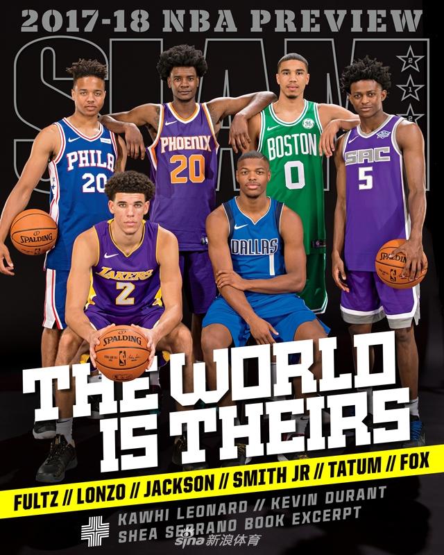 [NBA]2017新秀为《SLAM》拍摄封面写真(10张)