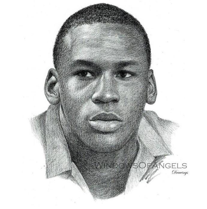 20世纪NBA球星素描 乔丹大神领衔(9张)