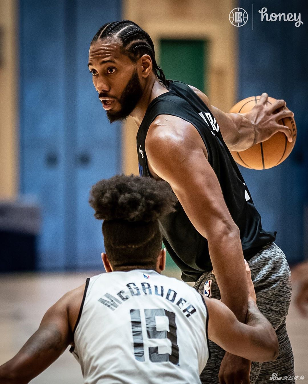 NBA快船队训练两大王牌全力以赴 卡哇伊+泡椒状态正佳