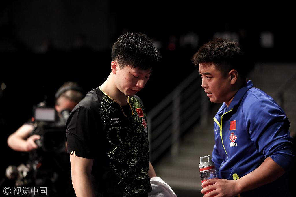 2017年10月22日,比利时,2017乒乓球男子世界杯半决赛,马龙3-4波